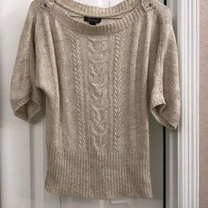 White House Black Market Short sleeve sweater